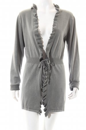 Tom Tailor Strick Cardigan grau Casual-Look