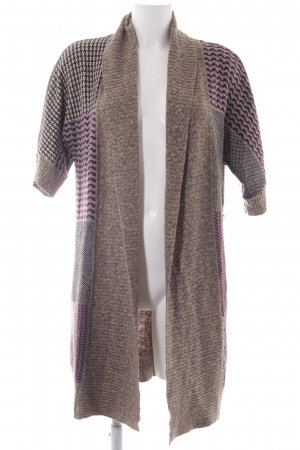 Tom Tailor Strick Cardigan Hahnentrittmuster Casual-Look