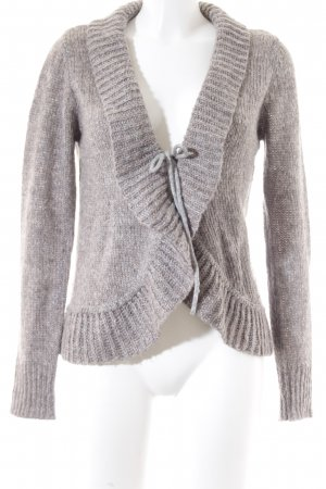 Tom Tailor Strick Cardigan hellgrau-beige Kuschel-Optik