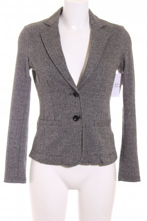 Tom Tailor Strickblazer grau Webmuster Retro-Look