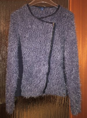 Tom Tailor Coarse Knitted Jacket blue-steel blue polyester