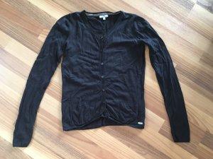 Tom Tailor Strickjacke Cardigan Damen schwarz, Größe 34 XS
