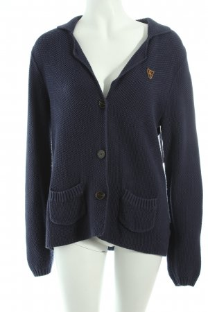 Tom Tailor Strickjacke dunkelblau College-Look