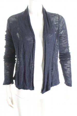 Tom Tailor Strickjacke dunkelblau Lochstrickmuster Casual-Look