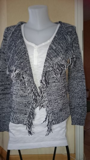 Tom Tailor Strickjacke Gr M mit Fransen