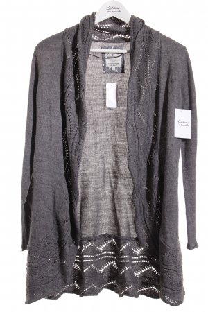 Tom Tailor Strickjacke grau Casual-Look