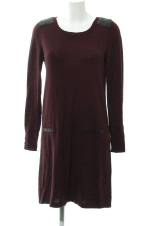 Tom Tailor Gebreide jurk bordeaux-zwart quilten patroon elegant
