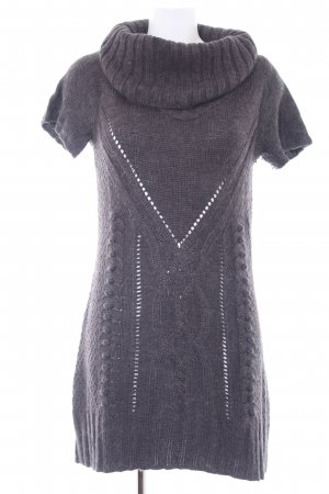 Tom Tailor Strickkleid dunkelgrau Lochstrickmuster Casual-Look