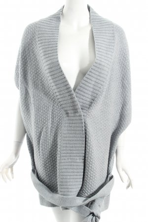 Tom Tailor Strickponcho hellgrau Casual-Look