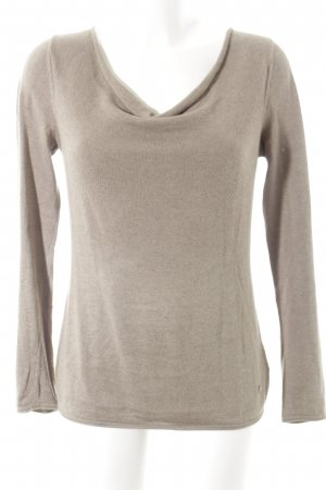 Tom Tailor Strickpullover hellbraun Casual-Look
