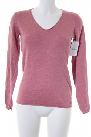 Tom Tailor Strickpullover rosa Casual-Look