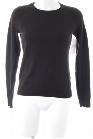 Tom Tailor Strickpullover schwarz Casual-Look