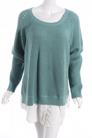 Tom Tailor Strickpullover türkis Casual-Look