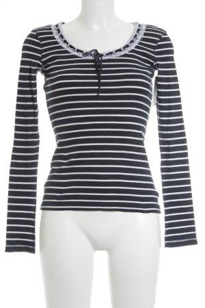 Tom Tailor Strickshirt dunkelblau-weiß Casual-Look