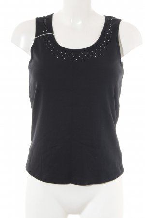 Tom Tailor Knitted Top black-silver-colored casual look
