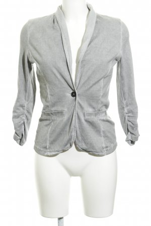Tom Tailor Sweatblazer grau Washed-Optik