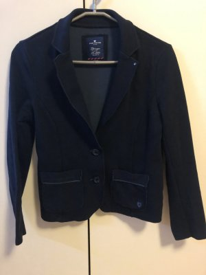 Tom Tailor Sweat Blazer dark blue cotton