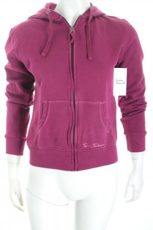 Tom Tailor Sweatjacke purpur Casual-Look