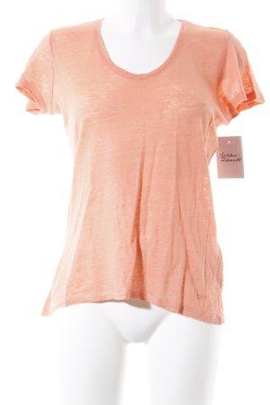 Tom Tailor T-Shirt apricot schlichter Stil