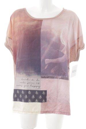 Tom Tailor T-Shirt blasslila-graulila Casual-Look