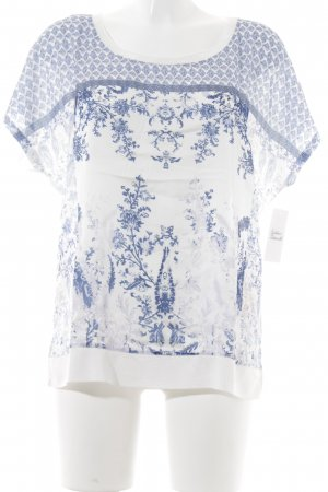 Tom Tailor T-Shirt blau-himmelblau florales Muster Casual-Look