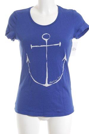 Tom Tailor T-Shirt blau-weiß Casual-Look