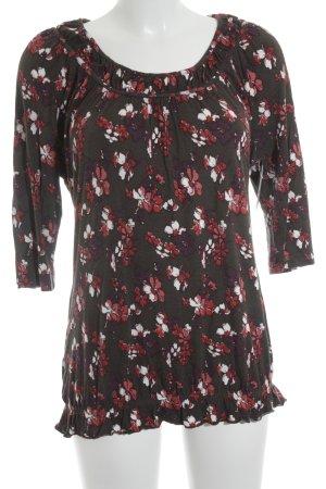 Tom Tailor T-Shirt Blumenmuster Romantik-Look