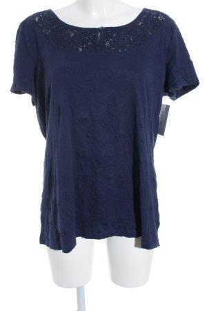 Tom Tailor T-Shirt dunkelblau Casual-Look