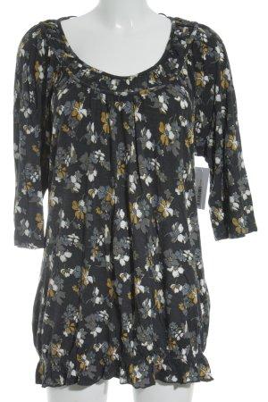 Tom Tailor T-Shirt goldorange-dunkelblau Blumenmuster Casual-Look