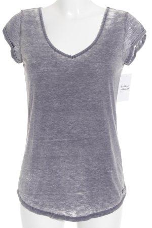Tom Tailor T-Shirt grau Casual-Look
