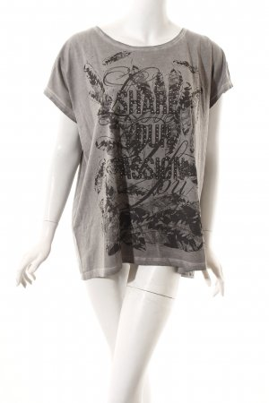 Tom Tailor T-Shirt hellgrau-grau Motivdruck Casual-Look
