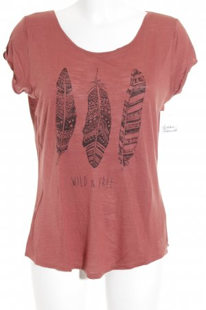 Tom Tailor T-Shirt rostrot Casual-Look