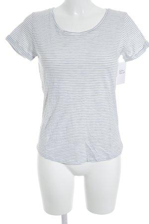 Tom Tailor T-Shirt weiß-blassblau Streifenmuster Casual-Look