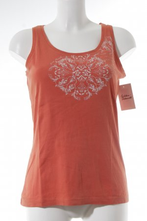 Tom Tailor Tanktop dunkelorange florales Muster Casual-Look
