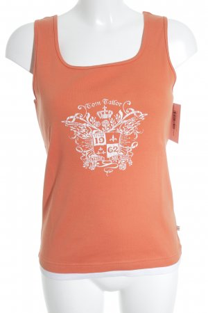 Tom Tailor Tanktop orange-weiß Casual-Look