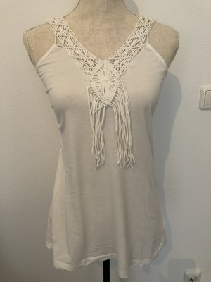 Tom Tailor Top, weiss, Gr. XS, neu