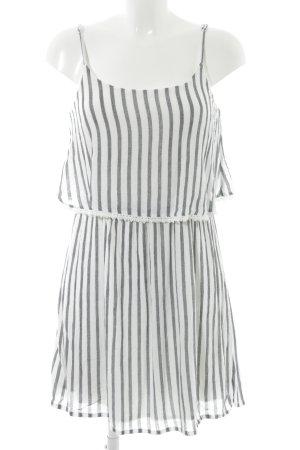 Tom Tailor Trägerkleid weiß-anthrazit Streifenmuster Beach-Look