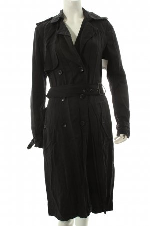 Tom Tailor Trenchcoat schwarz Used-Optik