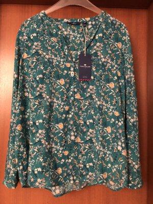 Tom Tailor Tunique-blouse vert forêt-vert viscose