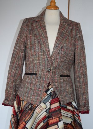 Tom Tailor - Tweed Blazer mit Arm Patches Gr. 40