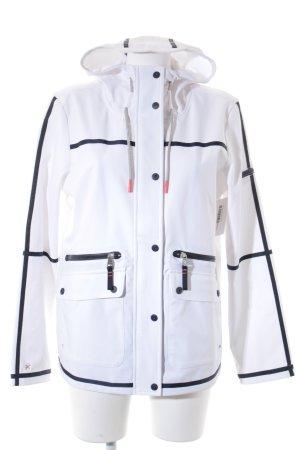 Tom Tailor Übergangsjacke weiß-dunkelblau Casual-Look