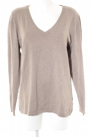 Tom Tailor V-Neck Sweater beige casual look