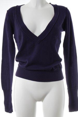 Tom Tailor V-Ausschnitt-Pullover braunviolett Casual-Look