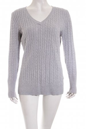 Tom Tailor V-Ausschnitt-Pullover grau Casual-Look