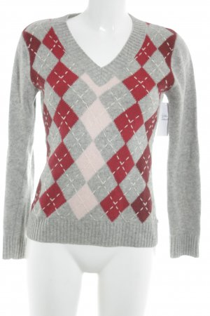 Tom Tailor V-Neck Sweater check pattern casual look