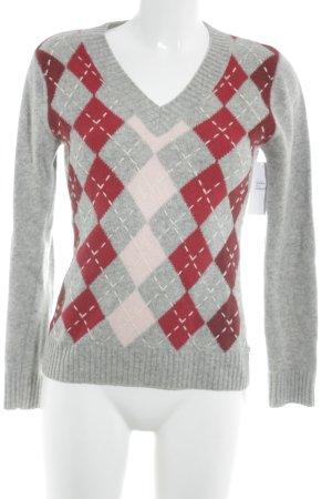 Tom Tailor V-Ausschnitt-Pullover Karomuster Casual-Look