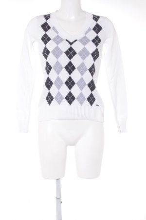 Tom Tailor V-Ausschnitt-Pullover Webmuster Casual-Look