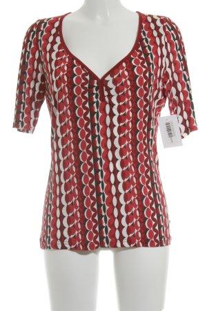 Tom Tailor V-Ausschnitt-Shirt Punktemuster klassischer Stil
