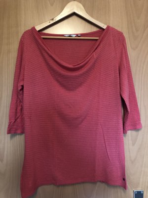 Tom Tailor Top col bénitier rouge clair