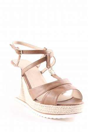 Tom Tailor Wedge Sandals cognac-coloured-light brown Boho look